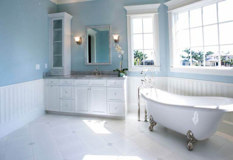 White Color Bathroom