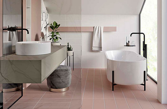 This minimalist bathroom with an industrial touch is no less beautiful