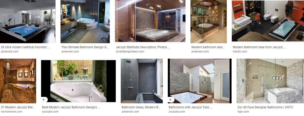 Modern Bathroom Design With Jacuzzi
