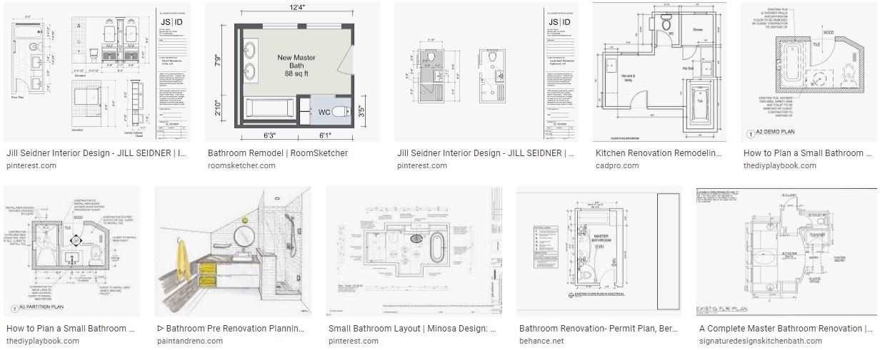 How do I draw up a bathroom plan