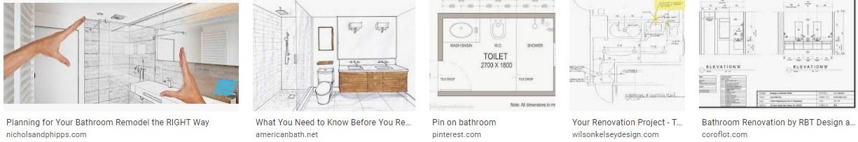 How do you layout a bathroom renovation