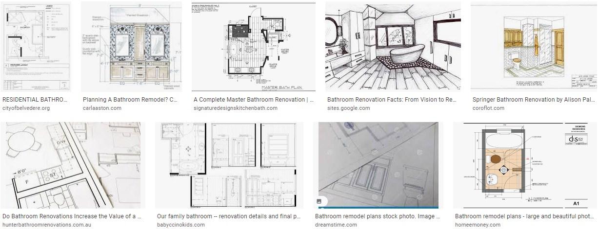 Drawing Bathroom Renovation Plans