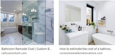 Small bathroom remodel cost estimate